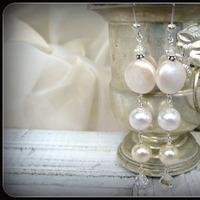 Jewelry, Earrings, Bride, Groom, Wedding, Bridesmaid, Of, Mother, Pearls, The, Dangle, Stacys designs 88