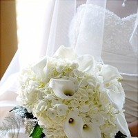 Flowers & Decor, Bridesmaids, Bridesmaids Dresses, Fashion, white, Bride Bouquets, Bridesmaid Bouquets, Flowers, Bouquet, Calla, And, Hydrangea, Lily, Heaven scent florals, Flower Wedding Dresses