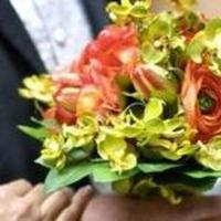 Flowers & Decor, orange, green, Bride Bouquets, Bride, Flowers, Bouquet, Orchids, Hydrangea, Silk, Keepsake silk flowers