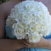Flowers & Decor, Bridesmaids, Bridesmaids Dresses, Fashion, white, blue, Bride Bouquets, Bridesmaid Bouquets, Flowers, Bouquet, Bridal, With, Crystals, Heaven scent florals, Flower Wedding Dresses