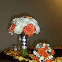Flowers & Decor, white, orange, Bride Bouquets, Flowers, Bouquet, Bridal, And, Toss, Heaven scent florals