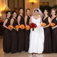 Beauty, Ceremony, Flowers & Decor, Jewelry, Bridesmaids, Bridesmaids Dresses, Wedding Dresses, Fashion, white, orange, brown, dress, Makeup, Ceremony Flowers, Bridesmaid Bouquets, Flowers, Hair, Flower Wedding Dresses