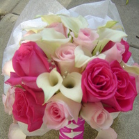 Ceremony, Reception, Flowers & Decor, Bridesmaids, Bridesmaids Dresses, Fashion, white, pink, silver, Ceremony Flowers, Bride Bouquets, Bridesmaid Bouquets, Flowers, Roses, Bouquet, Calla, Bridal, Lillies, Empora floral artistry, Flower Wedding Dresses