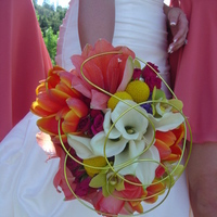 Ceremony, Flowers & Decor, Bridesmaids, Bridesmaids Dresses, Fashion, white, yellow, orange, pink, purple, green, Bouquet, Calla, Bridal, Unique, Coral, Lillies, Empora floral artistry, Amarayllis