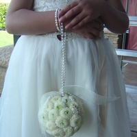 Ceremony, Reception, Flowers & Decor, Bridesmaids, Bridesmaids Dresses, Fashion, white, Ceremony Flowers, Bridesmaid Bouquets, Flowers, Flower girl, Pearls, Empora floral artistry, Palmander ball, white mums, Flower Wedding Dresses