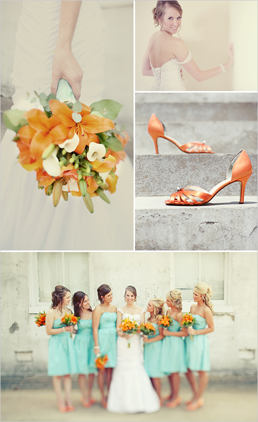 Inspiration, orange, blue, Teal, Board, Tiffany, Coral
