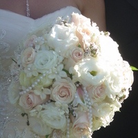 Ceremony, Reception, Flowers & Decor, Bridesmaids, Bridesmaids Dresses, Fashion, white, ivory, brown, Ceremony Flowers, Bride Bouquets, Bridesmaid Bouquets, Flowers, Roses, Bouquet, Bridal, Pearls, Hydrangea, Empora floral artistry, Flower Wedding Dresses