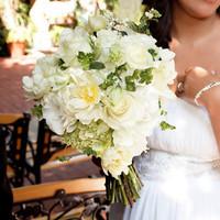 Flowers & Decor, white, Bride Bouquets, Flowers, Roses, Bouquet, Snowberry