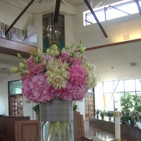 Ceremony, Reception, Flowers & Decor, Bridesmaids, Bridesmaids Dresses, Fashion, pink, silver, Ceremony Flowers, Bridesmaid Bouquets, Flowers, Church decor, Empora floral artistry, Pink hydrangeas, Flower Wedding Dresses