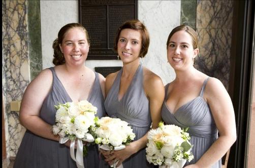 Ceremony, Flowers & Decor, Bridesmaids, Bridesmaids Dresses, Fashion, gray, Ceremony Flowers, Bridesmaid Bouquets, Flowers, Flower Wedding Dresses