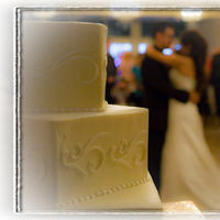 Reception, Flowers & Decor, Cakes, white, brown, black, gold, cake, Fizbin photography
