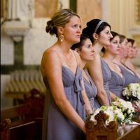 Ceremony, Flowers & Decor, Bridesmaids, Bridesmaids Dresses, Fashion, gray