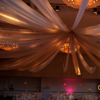 Ceremony, Reception, Flowers & Decor, white, ivory, pink, Draping, Fabric, Decoration, Ceiling, Pure elegance