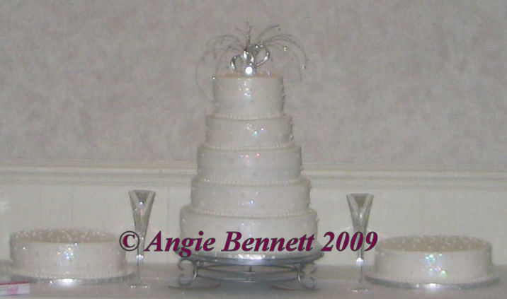 Inspiration, Flowers & Decor, Cakes, white, silver, cake, Round, Flowers, Buttercream, Board, Pearl, Hearts, Spray, Stacked, Glitter, Layer, Glitz, A memory worth making - cakes