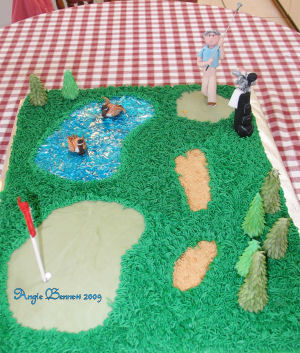 Inspiration, Cakes, white, yellow, red, blue, green, brown, black, silver, gold, cake, Groom, Fondant, Board, Golf, 3, Grooms, D, 3-d, 3d, A memory worth making - cakes, Golfing, Masculine