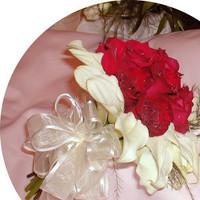 Flowers & Decor, Bridesmaids, Bridesmaids Dresses, Fashion, red, Bride Bouquets, Bridesmaid Bouquets, Flowers, Bouquet, Brides, Uniquely arranged decor, Flower Wedding Dresses