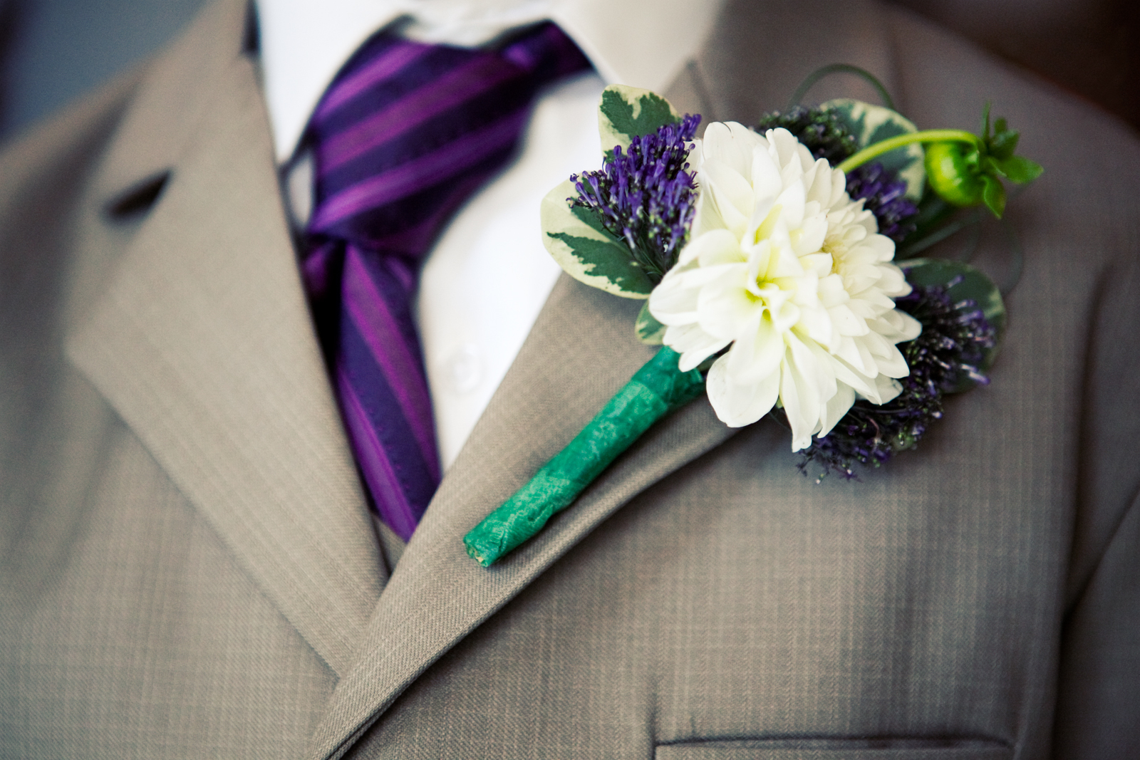 Flowers & Decor, Photography, Boutonnieres, Flower, Wedding, Tie, Detail, Fun, Unique, Groomsman, Photographer, Photos, Boutineer, Boston, Funky, The studio noir