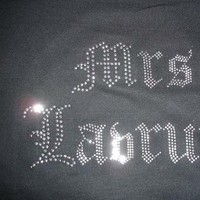 black, Bride, Mrs, Bling, Hoodie