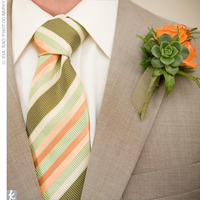 orange, green, Boutonnieres, Fall Wedding Flowers & Decor