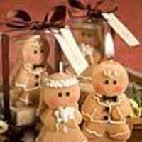 Reception, Flowers & Decor, Favors & Gifts, brown, Favors, Wedding, Candle, Gingerbread