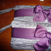 Bridesmaids, Bridesmaids Dresses, Fashion, purple, silver, Clutches