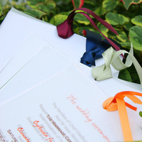 Stationery, white, yellow, orange, pink, red, purple, blue, green, brown, black, silver, gold, Invitations, Ijorere the invitation