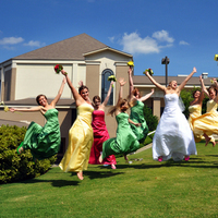Bridesmaids, Bridesmaids Dresses, Wedding Dresses, Fashion, yellow, pink, green, dress, Fotowerks photography