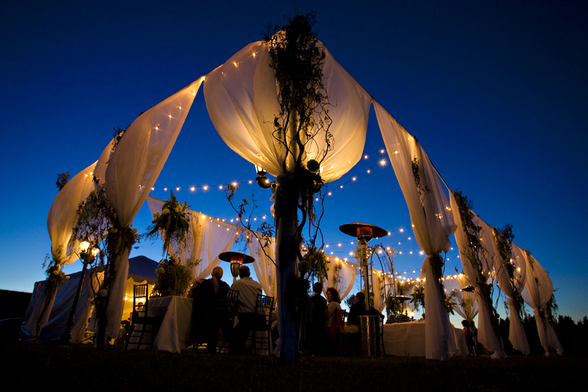 Reception, Flowers & Decor, white, yellow, gold, Outdoor, inc, Tent, Canopy, West coast event productions
