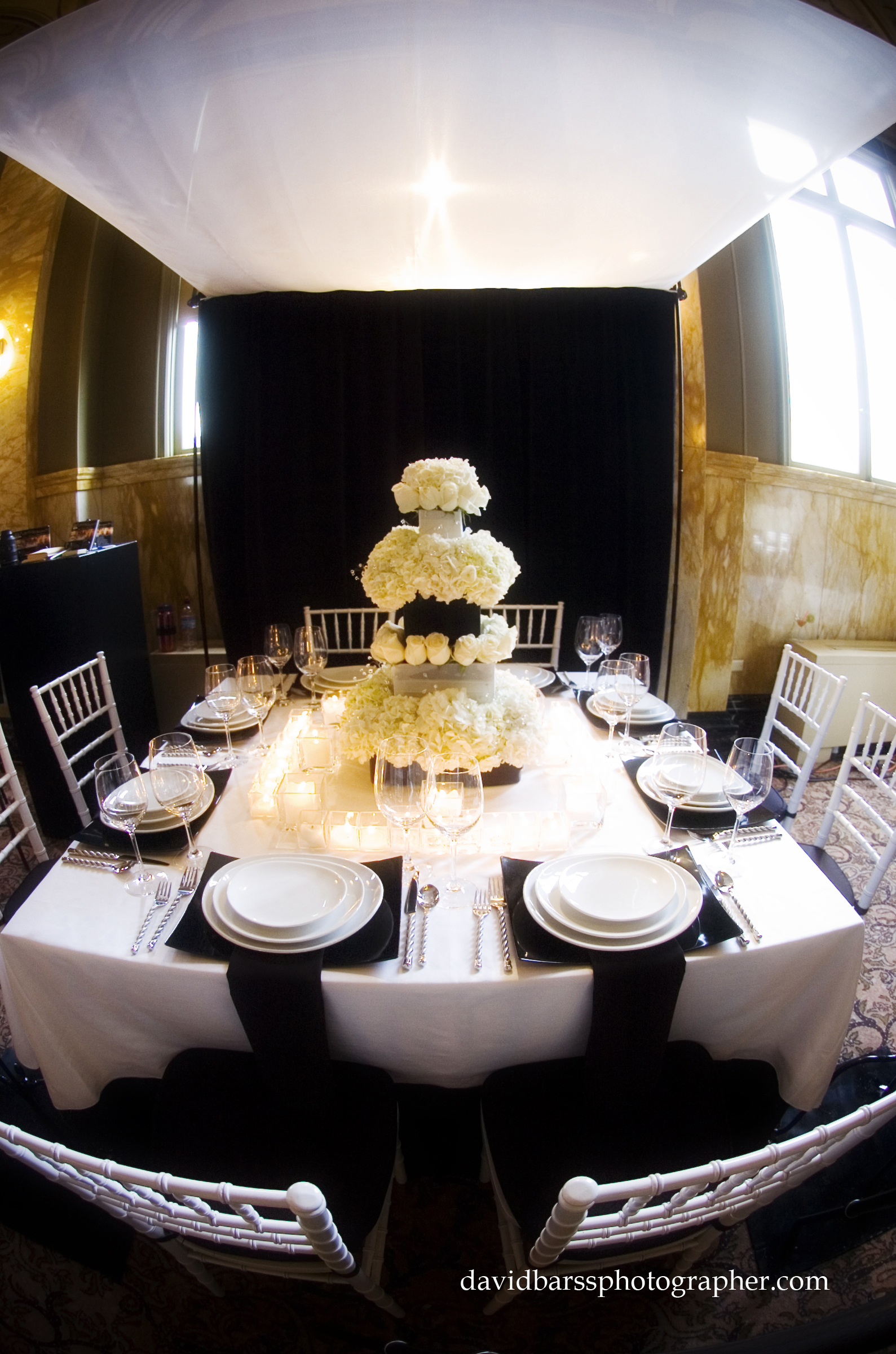 Reception, Flowers & Decor, white, black, Table, inc, West coast event productions
