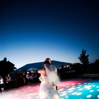Reception, Flowers & Decor, pink, blue, Dance, inc, Tent, Floor, West coast event productions
