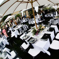 Reception, Flowers & Decor, white, black, Table, Umbrella, inc, West coast event productions