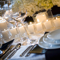 Reception, Flowers & Decor, Registry, white, black, Candles, Place Settings, Table, inc, Plates, West coast event productions