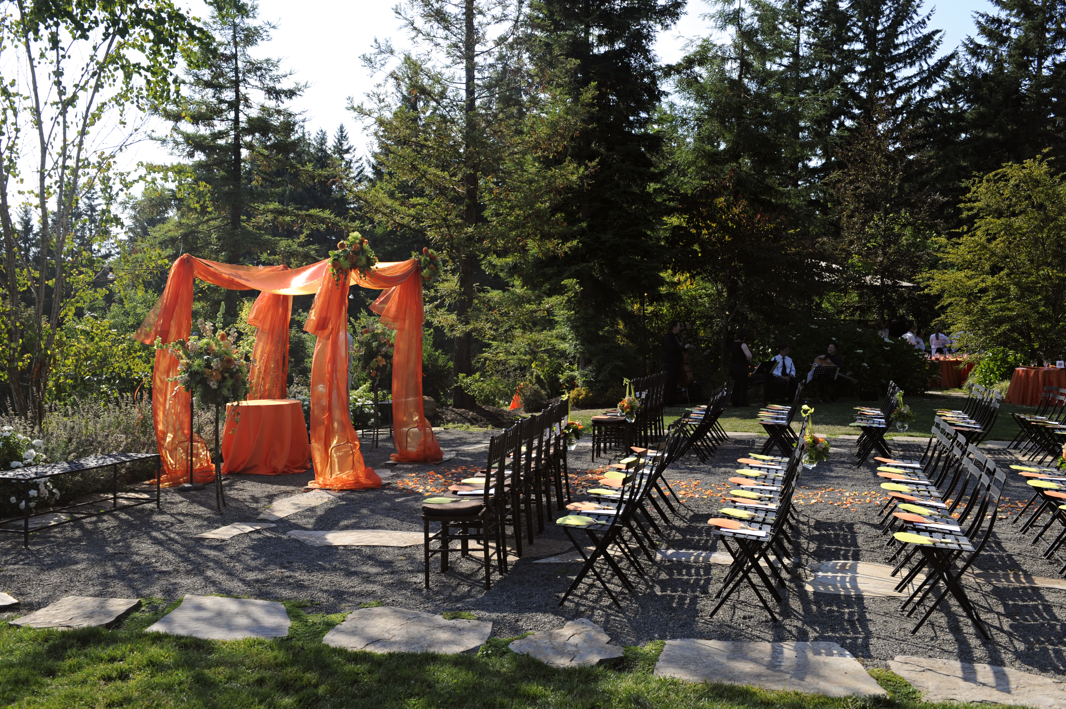 Ceremony, Flowers & Decor, orange, inc, Alter, Chuppa, West coast event productions