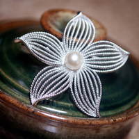 Beauty, Jewelry, Brooches, Hair, Brooch, Pearl