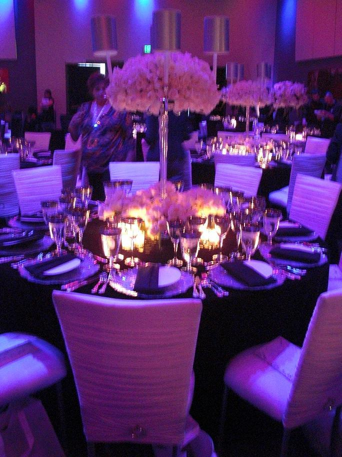 Reception, Flowers & Decor, purple, black