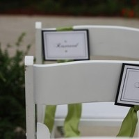 Ceremony, DIY, Flowers & Decor, white, green, black, Chair signs