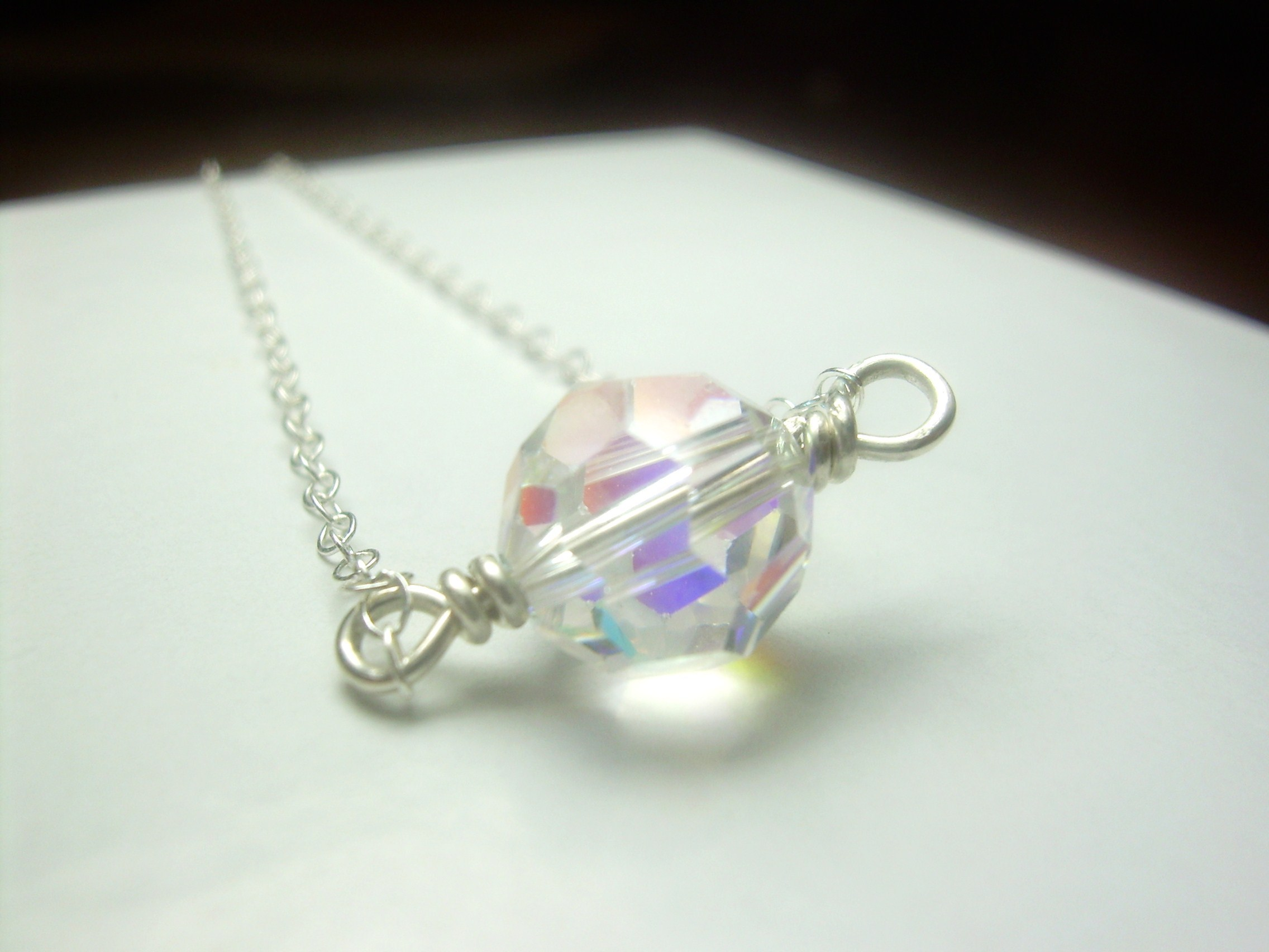 pink, white, Wedding, purple, Bridesmaids, Bride, Bridal, Jewelry, Bridesmaid, silver, Party, Crystal, Swarovski, Necklace, Light, Eye, Sterling, Bead, Sparkle, Chain, Lobster, Wire, Wrapped, Clasp, Faceted, Catching, Austrian, Bridal jewelry for you, Necklaces, Fashion, Bridesmaids Dresses