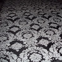 Ceremony, Flowers & Decor, white, black, Aisle, Runner, Damask