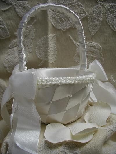 white, Flower girl, Basket, The thank you company