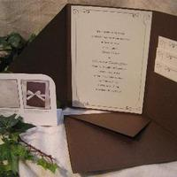 brown, Invitations, Do-it-yourself, Wedding invitations, The thank you company, Stationery
