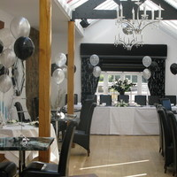 Reception, Flowers & Decor, white, black, silver
