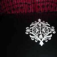 Reception, Flowers & Decor, white, black, Guestbook, Damask, Scrapbook