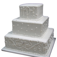 Reception, Flowers & Decor, Cakes, white, silver, cake, Square Wedding Cakes, Square, Crystal, Simple, Jewels, Homestyle bakery