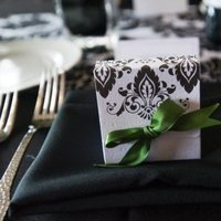 Inspiration, Reception, Flowers & Decor, Favors & Gifts, white, green, black, Favors, Board