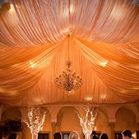 Reception, Flowers & Decor, gold, Lighting, Table, And, Beautiful, Head