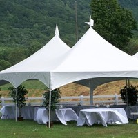 Reception, Flowers & Decor, silver, Tables & Seating, Tent, Linens, Tables