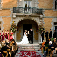 Ceremony, Flowers & Decor, red, Garden, Tables & Seating, Wedding, Chairs, Petals, Outdoors, Aisle, Cairnwood