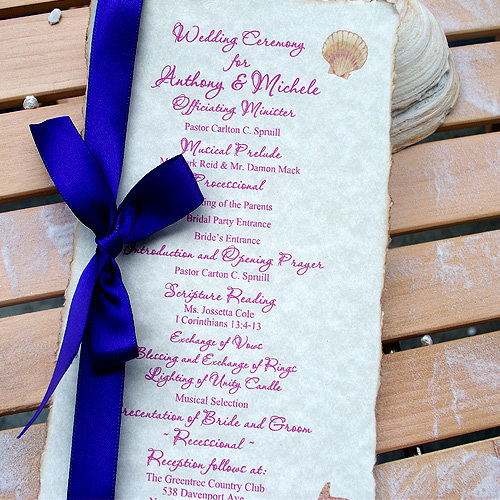 Stationery, Beach Wedding Invitations, Ceremony Programs, Destine 2 design