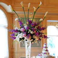 pink, purple, Summer Wedding Flowers & Decor