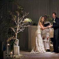 Ceremony, Flowers & Decor, white, blue, gray
